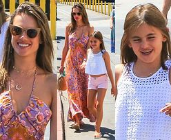 Alessandra Ambrosio cieszy się z zakupów z córką