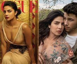 """Zakochana Priyanka Chopra tuli się do młodszego o 10 lat męża w """"Vogue'u"""""""