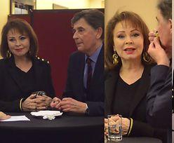 Izabela Trojanowska z serialowym partnerem na bankiecie