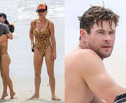 Chris Hemsworth z żoną przytulają się na plaży (ZDJĘCIA)