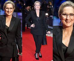 Elegancka Meryl Streep w czerni na premierze filmu