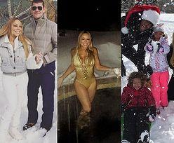 Mariah Carey w złotym kostiumie kąpielowym! Bez retuszu? (FOTO)