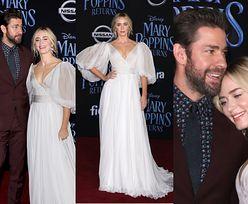 """Piękna Emily Blunt tuli się do męża na premierze """"Mary Poppins powraca"""""""