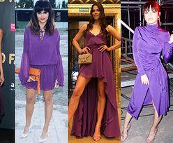 Najpiękniejsze fioletowe sukienki w stylizacjach gwiazd