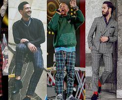 Z czym celebryci noszą spodnie w kratę?