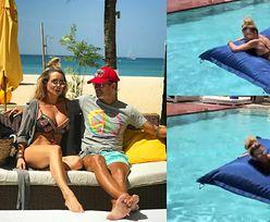 Tymczasem na Instagramie: Radzio w basenie klepie pupę Rozenek (FOTO)