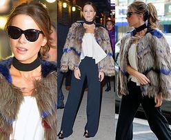 43-letnia Kate Beckinsale w kolorowym futrze