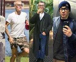 Męskie okulary zerówki w stylizacjach celebrytów
