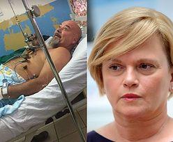 Mąż Katarzyny Figury miał wypadek. Grozi mu amputacja nogi (FOTO)