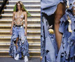 Córka Madonny pokazała OWŁOSIONE NOGI i gołe piersi na wybiegu (FOTO)