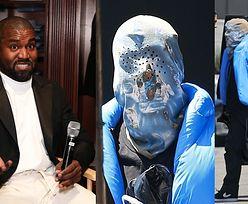 Kanye West paraduje po Los Angeles w WORKU na głowie (ZDJĘCIA)