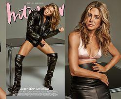 """51-letnia Jennifer Aniston pręży się w sesji dla """"Interview"""" i opowiada o trudnym dzieciństwie: """"Czułam się ZAGROŻONA"""" (ZDJĘCIA)"""