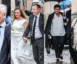 Świeżo poślubieni Jacek Kurski i jego żona zmierzają na przyjęcie w doborowym gronie. Wśród gości Jarosław Kaczyński, Beata Szydło i Danuta Holecka (ZDJĘCIA)