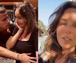 Agnieszka Włodarczyk przechadza się w tropikach i pokazuje, jak Robert Karaś TRZYMA DŁOŃ na jej ciążowym brzuszku