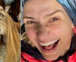 Nielegalna Joanna Koroniewska szykuje się na spotkanie z teściową, łamiąc zakaz u fryzjera
