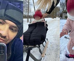 Daniel Martyniuk zabrał córkę na sanki. Towarzyszyła im TAJEMNICZA BLONDYNKA!