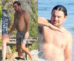 Beztroski Leonardo DiCaprio w zsuwających się kąpielówkach pluska się z kolegami w oceanie (ZDJĘCIA)