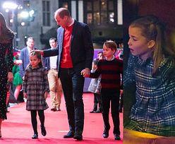 Kate Middleton i książę William maszerują z Georgem, Charlotte i Louisem na świąteczny spektakl (ZDJĘCIA)
