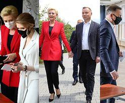Andrzej Duda zmierza do lokalu wyborczego razem z żoną Agatą i córką Kingą (ZDJĘCIA)