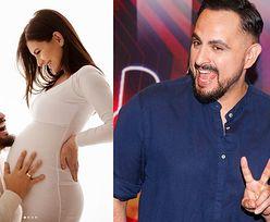 """Agustin Egurrola śmieje się do ciążowego brzucha żony. """"Moja miłość, moja duma, moja przyszłość"""" (FOTO)"""