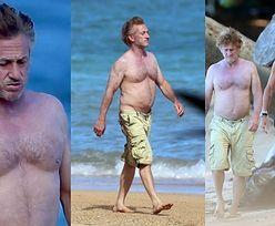 60-letni Sean Penn i jego nagi tors spacerują po hawajskiej plaży w towarzystwie szefa Twittera (ZDJĘCIA)