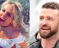 """Wyćwiczona Britney Spears wiruje w rytm piosenki Justina Timberlake'a i prawi mu komplementy: """"Jest GENIUSZEM"""" (WIDEO)"""
