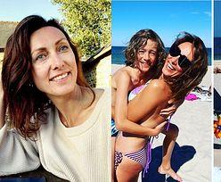 """Szczęśliwa Anna Kalczyńska odtwarza zdjęcie z synem sprzed 10 LAT! """"Ten sam chłopak, ta sama plaża"""" (FOTO)"""