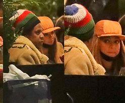 Ubrani w kożuchy Beyonce i Jay-Z randkują w nowojorskiej knajpce (ZDJĘCIA)