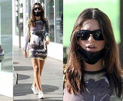 Ciężarna Emily Ratajkowski w obcisłej sukience oddaje się shoppingowi (ZDJĘCIA)