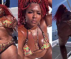 Wyzwolona Lizzo w skąpym bikini twerkuje na pokładzie prywatnego jachtu (ZDJĘCIA)