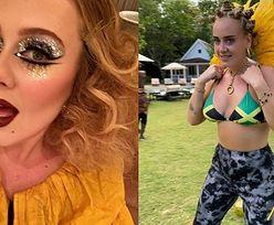 """Odchudzona Adele pozuje w afrykańskim uczesaniu. Internauci oskarżają ją o RASIZM: """"Co ona sobie MYŚLAŁA?"""" (FOTO)"""
