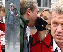 Jarosław Jakimowicz całuje Magdalenę Ogórek w maseczkę z polską flagą (ZDJĘCIA)