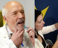 Oderwany od rzeczywistości Janusz Korwin-Mikke ogłasza KONIEC PANDEMII i przy pomocy żony pozbywa się brody (FOTO)