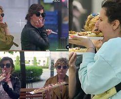 """Zofia Zborowska w tiulowej sukni odtwarza jedzenie zapiekanek, żeby udowodnić, że media """"manipulują jej wizerunkiem""""... Głębokie?"""