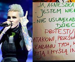 """Agnieszka Chylińska pisze, że nie usunęłaby chorego dziecka. """"Protestuję przeciwko karaniu tych, KTÓRZY MYŚLĄ INACZEJ"""""""