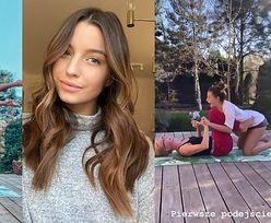 """Gibka Wieniawa trenuje jogę z mamą i dzieli życiową refleksją: """"Kiedy jesteśmy odcięci od przyjemności, doceniamy wszystko bardziej"""" (FOTO)"""