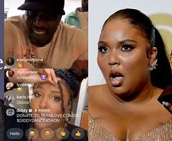 """""""Ciało-pozytywna"""" Lizzo próbowała twerkować podczas transmisji z Diddym na Instagramie. Raper... WYŁĄCZYŁ JEJ MUZYKĘ (WIDEO)"""