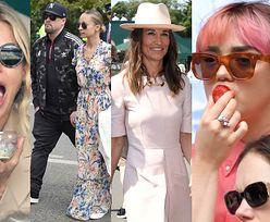 VIP-y bawią się na Wimbledonie: Pippa i James Middleton, głodna Sienna Miller, Maisie Williams z chłopakiem... (ZDJĘCIA)
