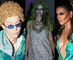 """Halloween za oceanem: Jessica Biel przebrana za Timberlake'a, brokatowa topielica Heidi Klum i """"podrabiana"""" Jennifer Lopez (ZDJĘCIA)"""