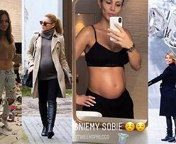 ZDJĘCIA TYGODNIA: płaski brzuch Wendzikowskiej, ciążowy brzuszek Sary Boruc i ogłoszenie ciąży Janachowskiej