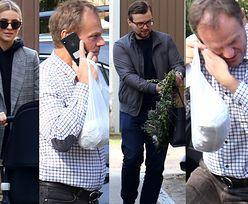 Wiosenna Kasia Tusk z dzieckiem, mężem i wielkanocnym wieńcem odwiedziła rodzinny dom (ZDJĘCIA)