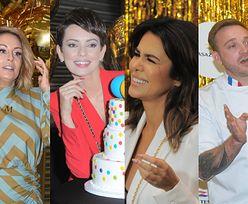 Roześmiane celebrytki wdzięczą się do tortu na 20. urodzinach popularnej sieci handlowej: Małgorzata Rozenek, Natalia Siwiec, Dorota Gardias (ZDJĘCIA)