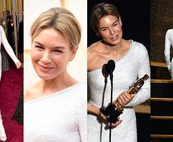 Oscary 2020: Renee Zellweger triumfuje w delikatnej kreacji od Armaniego (ZDJĘCIA)