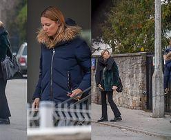 Odeta Moro i jej 16-letnia córka wychodzą z domu dziennikarki i wsiadają razem do taksówki. Konflikt zażegnany? (ZDJĘCIA)