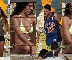 Córka Madonny w neonowym bikini opala się z chłopakiem w Miami