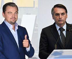 """Prezydent Brazylii oskarża Leonardo DiCaprio: """"Daje pieniądze na to, żeby podpalać Amazonię"""". Aktor wydał oświadczenie"""