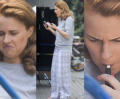 Zdziwiona i rozgoryczona Kaja Paschalska spaceruje po ulicy w piżamie (ZDJĘCIA)