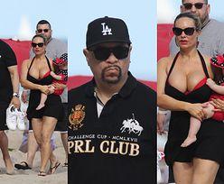 Coco Austin i Ice-T z córką na plaży (ZDJĘCIA)
