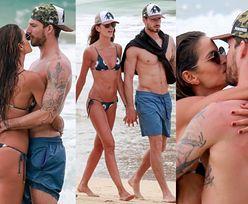 """""""Aniołek"""" Victoria's Secret z chłopakiem-piłkarzem całują się na plaży (ZDJĘCIA)"""