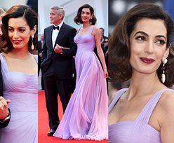 Amal Clooney TRZY MIESIĄCE po porodzie przytula się do George'a na czerwonym dywanie (ZDJĘCIA)
